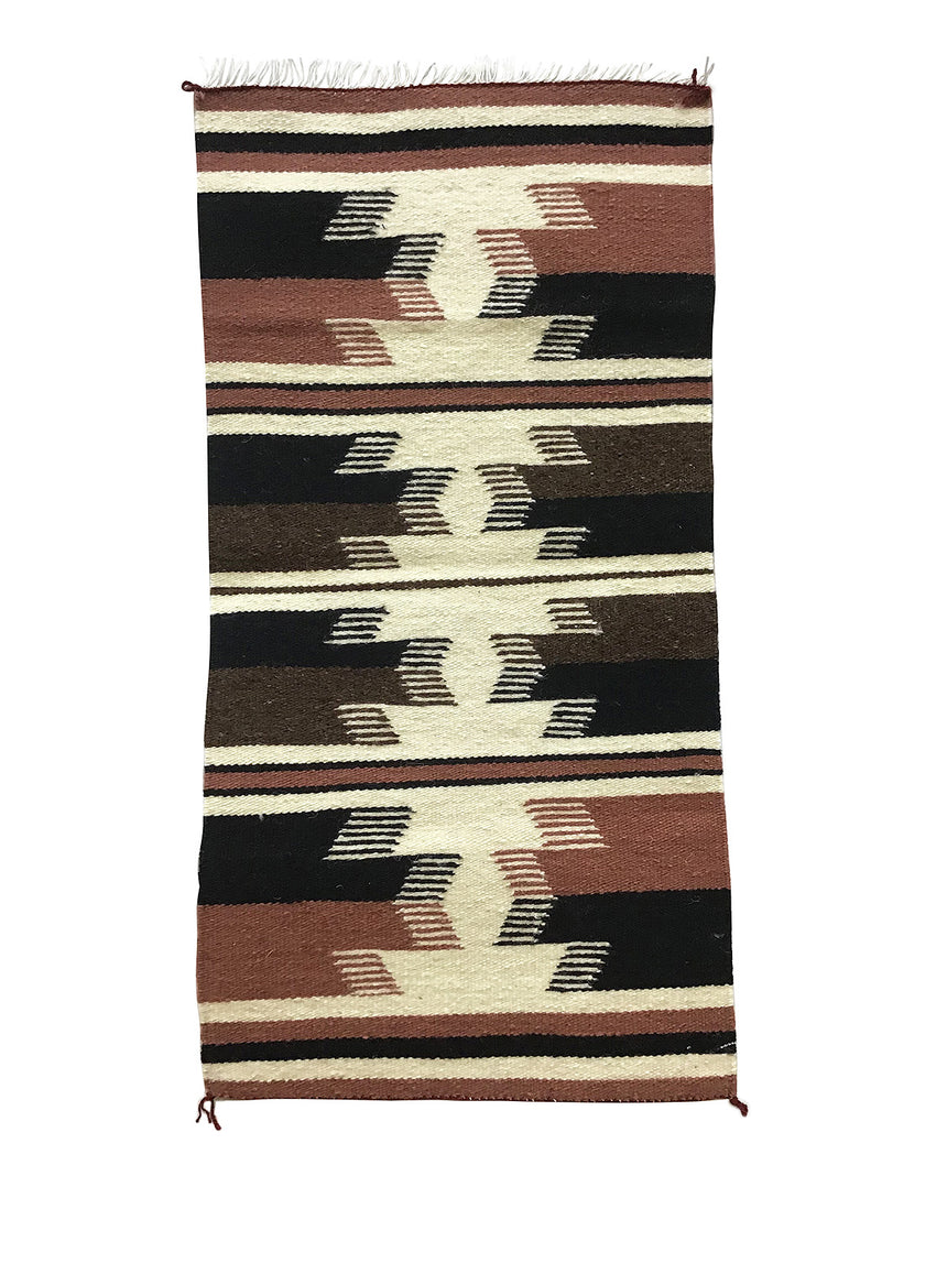 "Gallup Throw Rug, Navajo Handwoven, Wool, Cotton, 35"" x 17 3/4"""