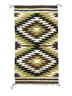 "Load image into Gallery viewer, Sammy Jones, Gallup Throw Rug, Navajo Handwoven, Wool, Cotton, 36"" x 19 1/2"""