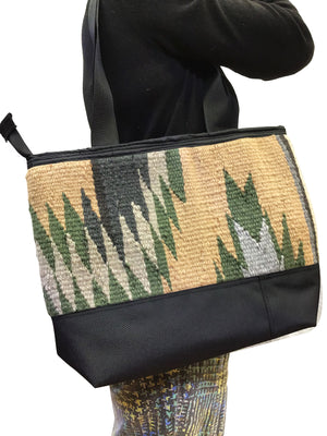Load image into Gallery viewer, 3.Elmer Thompson, Handbag, Gallup Throw Rug, Zipper, Navajo, Approx. 19x13