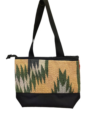 Load image into Gallery viewer, 2.Elmer Thompson, Handbag, Gallup Throw Rug, Zipper, Navajo, Approx. 19x13