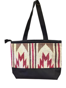 5.Elmer Thompson, Handbag, Gallup Throw Rug, Zipper, Navajo, Approx. 19x13