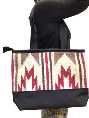 Load image into Gallery viewer, 5.Elmer Thompson, Handbag, Gallup Throw Rug, Zipper, Navajo, Approx. 19x13