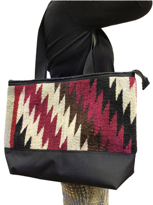 Load image into Gallery viewer, 4.Elmer Thompson, Handbag, Gallup Throw Rug, Zipper, Navajo, Approx. 19x13