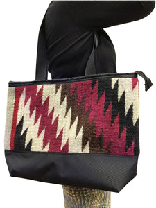 4.Elmer Thompson, Handbag, Gallup Throw Rug, Zipper, Navajo, Approx. 19x13