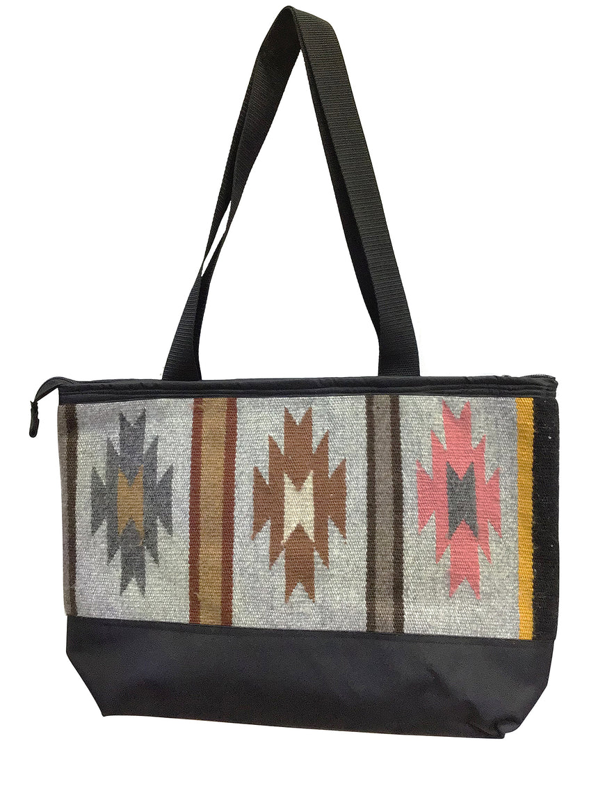 12.Elmer Thompson, Handbag, Gallup Throw Rug, Zipper, Navajo, Approx. 19x13