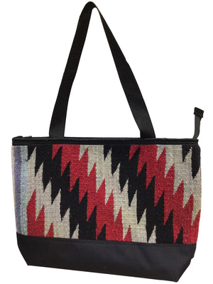 Load image into Gallery viewer, 1.Elmer Thompson, Handbag, Gallup Throw Rug, Zipper, Navajo, Approx. 19x13