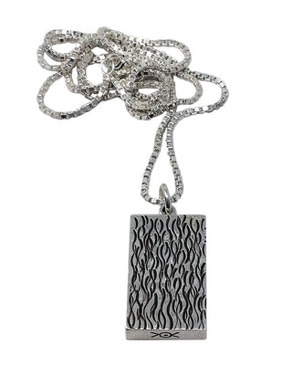 Load image into Gallery viewer, Aaron Peshlakai, Pendant, Sterling Silver Chain, Four Sided, Navajo Handmade, 1""