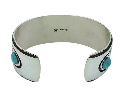 Load image into Gallery viewer, Aaron John, Bracelet, Bear, Turquoise, Sterling Silver, Navajo Handmade, 7""