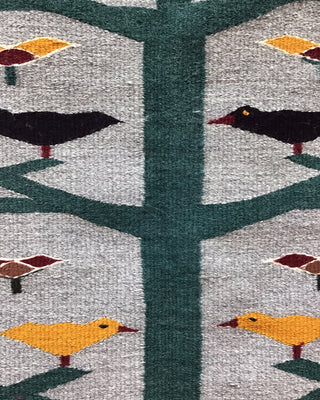 "Load image into Gallery viewer, Anna Grey, Tree of Life, Pictorial, Navajo Handwoven Rug, 47"" x 36"""