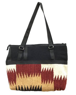 "Load image into Gallery viewer, Elmer Thompson, Handbag, Gallup Throw Rug, Zipper, Navajo, Approx. 17"" x 12"""