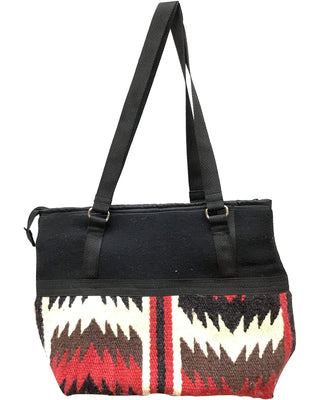 "Load image into Gallery viewer, Elmer Thompson, Handbag, Gallup Throw Rug, Zipper, Navajo, Approx. 16"" x 11"""