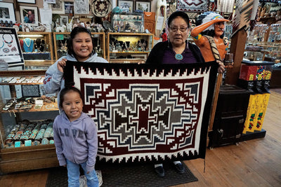 "Load image into Gallery viewer, Anna Gray, Klagetoh, Rug, Navajo Handwoven, 47"" x 35"""