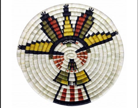 Rhetta Lou Adams, Hopi Coil Plaque, Maiden, 12.75 in