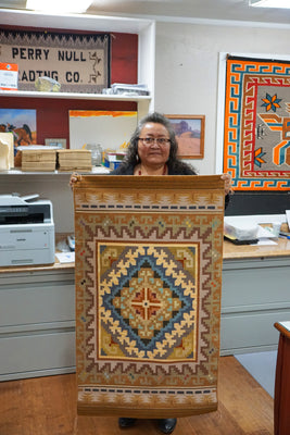 "Load image into Gallery viewer, Darlene Myers, Burntwater Rug, Navajo, Handwoven, 29"" x 50"""