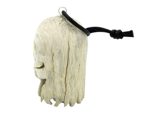 Esteban Najera, Two Face, Skeleton, Deer Antler, Fetish, Zuni Handmade, 2.5