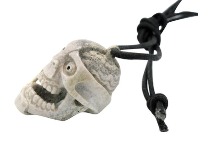 Load image into Gallery viewer, Esteban Najera, Two Face, Brain, Skull, Deer Antler, Fetish, Zuni Handmade, 1.75""