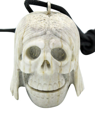 Load image into Gallery viewer, Esteban Najera, Skull, Deer Antler, Fetish, Zuni Handmade, 2""