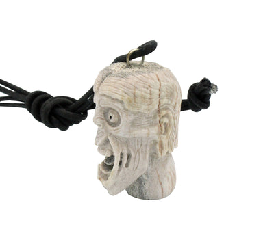 Load image into Gallery viewer, Esteban Najera, Disfigured Face, Man, Deer Antler, Fetish, Zuni Handmade, 1.75""