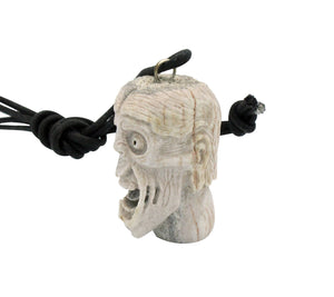 Esteban Najera, Disfigured Face, Man, Deer Antler, Fetish, Zuni Handmade, 1.75""