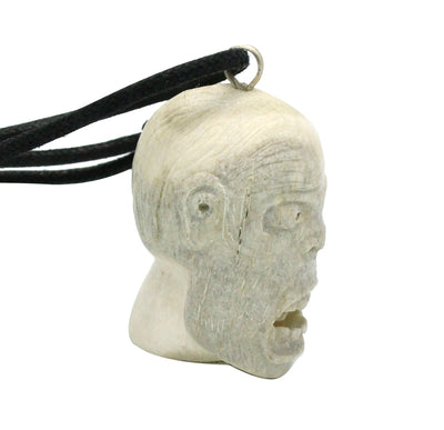 Load image into Gallery viewer, Esteban Najera, Fallen Eye, Man, Deer Antler, Fetish, Zuni Handmade, 1.75""