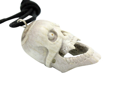 Load image into Gallery viewer, Esteban Najera, Skull, Vampire, Deer Antler, Fetish, Zuni Handmade, 2""