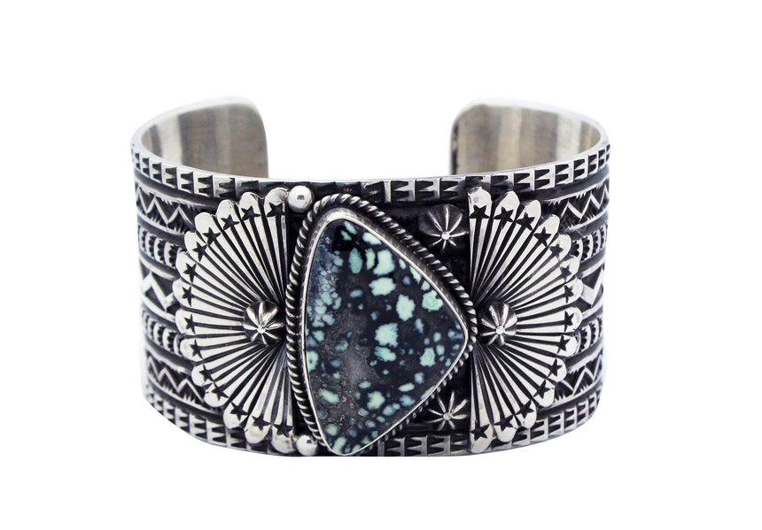 Sunshine Reeves, Bracelet, Royal Web Turquoise, Silver, Navajo Handmade, 6.5