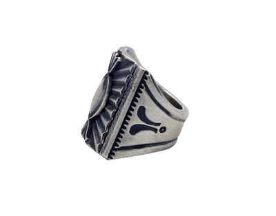 Load image into Gallery viewer, Derrick Gordon, Ring, Ingot, Stamping, Sterling Silver, Navajo Handmade, 8.5
