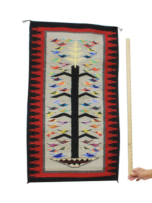 "Load image into Gallery viewer, Kathy Bia, Tree Of Life, Rug, Navajo, Handwoven, 23.5"" x 41"""