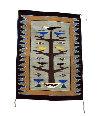 "Load image into Gallery viewer, Alice Grey, Tree of Life, Rug, Navajo, Handwoven, 35.5"" x 48"""