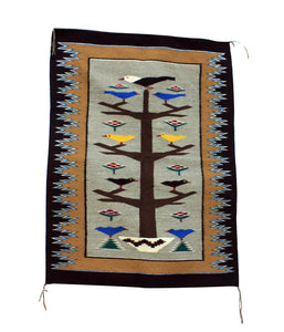 "Alice Grey, Tree of Life, Rug, Navajo, Handwoven, 35.5"" x 48"""
