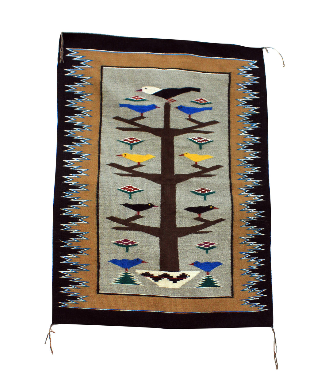 Alice Grey, Tree of Life, Rug, Navajo, Handwoven, 35.5