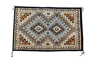 "Load image into Gallery viewer, Teri Begay, Two Grey Hills, Rug, Navajo, Handmade, 66"" x 39"""