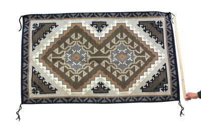 "Load image into Gallery viewer, Elouise Gishie, Two Grey Hills, Rug, Navajo, Handmade, 66"" x 39"""