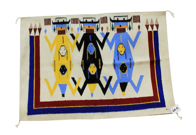"Load image into Gallery viewer, Wenora Joe, Father Earth Mother Sky, Rug, Navajo, Handwoven, 45"" x 36"""