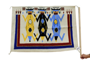 "Wenora Joe, Father Earth Mother Sky, Rug, Navajo, Handwoven, 45"" x 36"""
