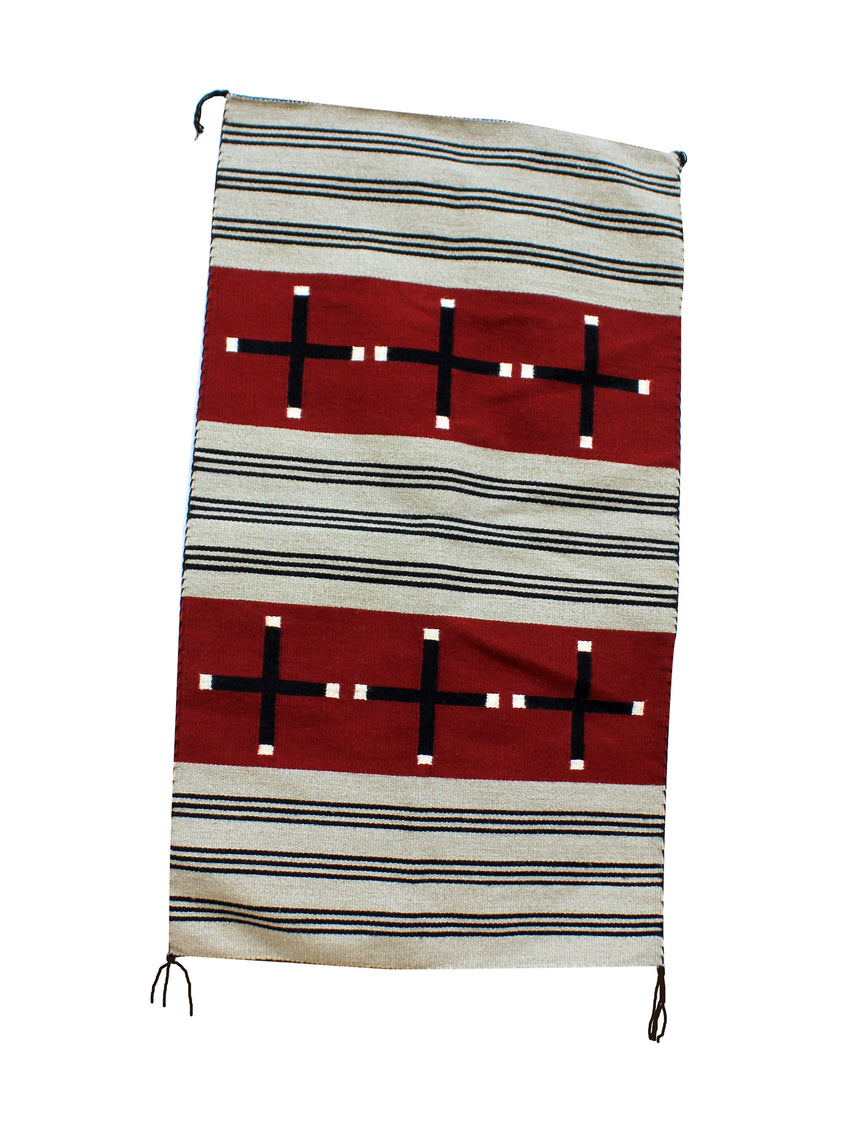 Bennie Largo, Chief Pattern Rug, Navajo Handwoven, 29