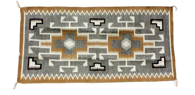 Load image into Gallery viewer, Circa 1960's, Mulit-Pattern Rugs, Hand Spun, Vegetal Dye, Navajo, 29.5 in x 59.5 in