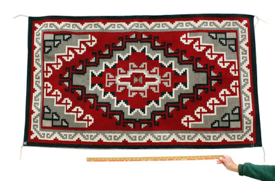 "Load image into Gallery viewer, MARY KEE, GANADO, NAVAJO HANDWOVEN, 65"" x 37"""