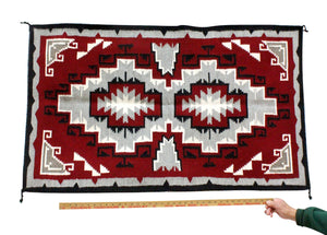"Evelyn Johnson, Ganado Rug, Navajo Handwoven, 29.5"" x 49.5"""