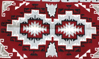 "Load image into Gallery viewer, Evelyn Johnson, Ganado Rug, Navajo Handwoven, 29.5"" x 49.5"""