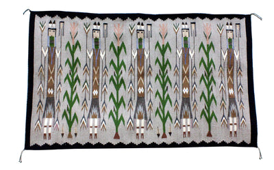 Load image into Gallery viewer, Rena John, Yei Rug, Navajo Handwoven, 32 in x 54 in