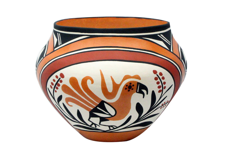 Loretta Joe, Acoma Pottery, Traditional Design, Jar, 9.6