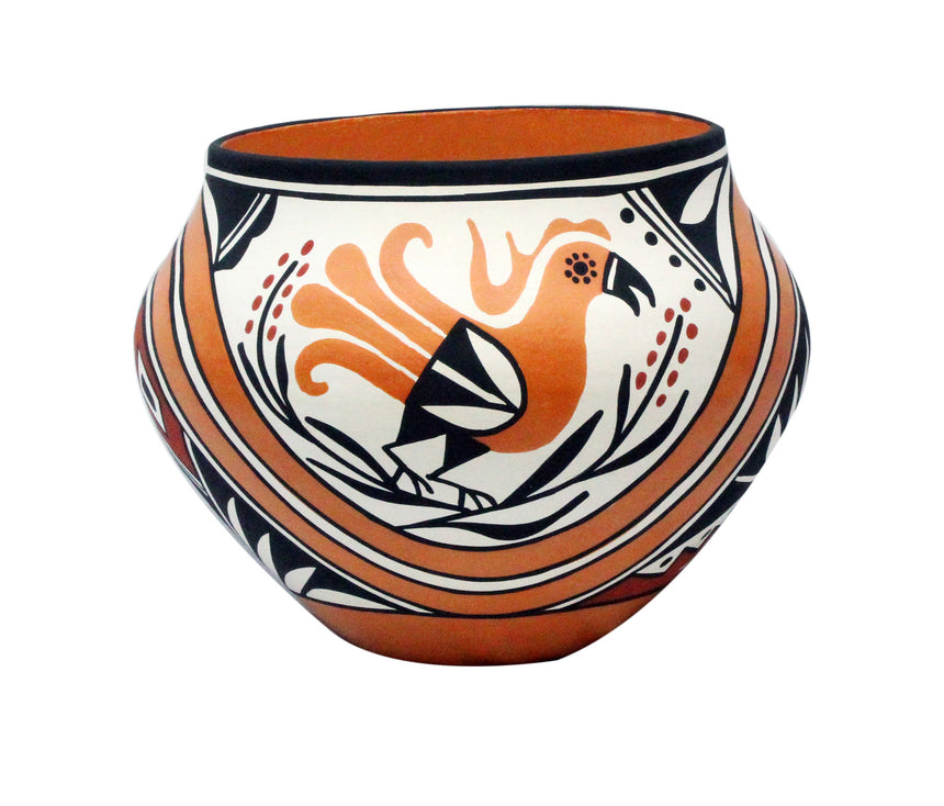 Loretta Joe, Acoma Pottery, Traditional Design, Jar, 9.5