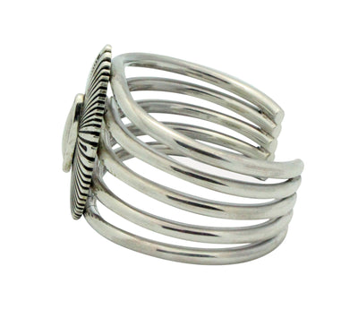 Load image into Gallery viewer, Ron Bedonie, Bracelet, Stamping, Filing, Sterling Silver, Navajo Made, 6.5