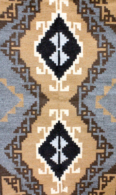Load image into Gallery viewer, Alice Whitewater, Two Grey Hill Rug, Navajo Handwoven, 47.5 in x 79 in