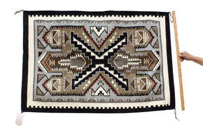 Load image into Gallery viewer, Cecelia Tsosie, Two Grey Hills, Rug, Navajo, Handwoven, 53 in x 35 in