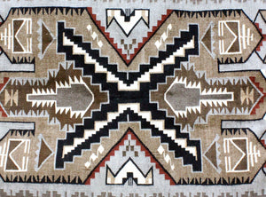 Cecelia Tsosie, Two Grey Hills, Rug, Navajo, Handwoven, 53 in x 35 in