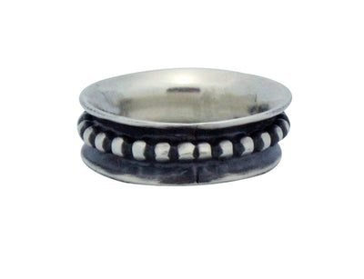 Load image into Gallery viewer, Ben Jimenez, Ring, Rustic Brushed Silver, Navajo Handmade, 9