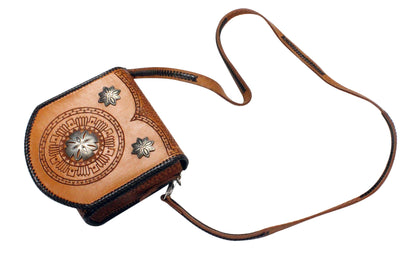 Load image into Gallery viewer, Jennifer Curtis, Leather Purse, Silver Buttons, Navajo Made, Circa 2000s