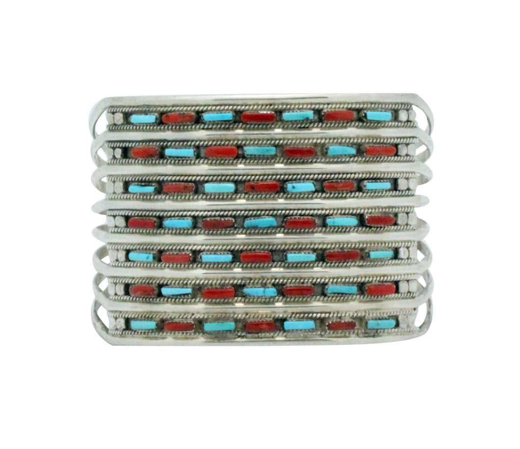 Connie Hattie, Bracelet, Sleeping Beauty Turquoise, Mediterranean Coral,  6.5